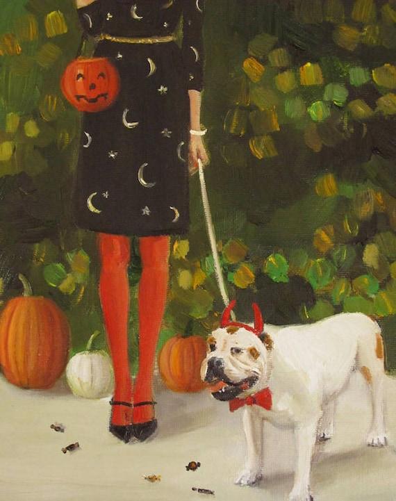 Danielle And The Devil. Art Print