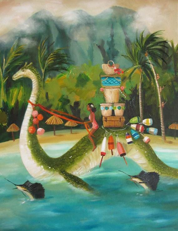 South Seas Serpent. Art Print