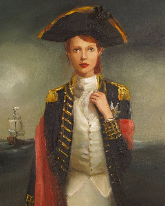 Portrait- Her Face Launched A Thousand Ships. Art Print