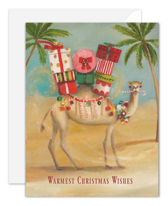 The Christmas Camel Card. SKU JH1130