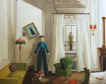Life Like A French Spy Novel. Art Print