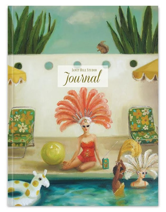 Poolside Blank Journal