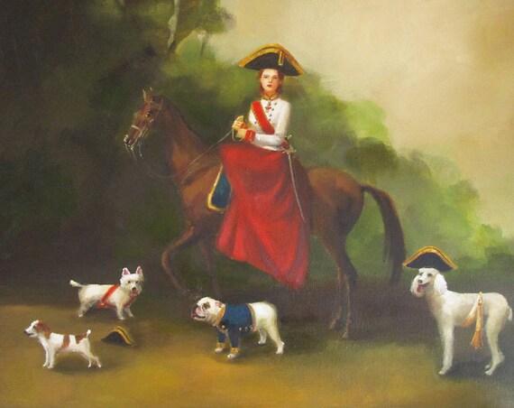 Portrait. Gracie Was A Natural Born Leader. Art Print