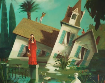 The Incredible Sinking House. Art Print