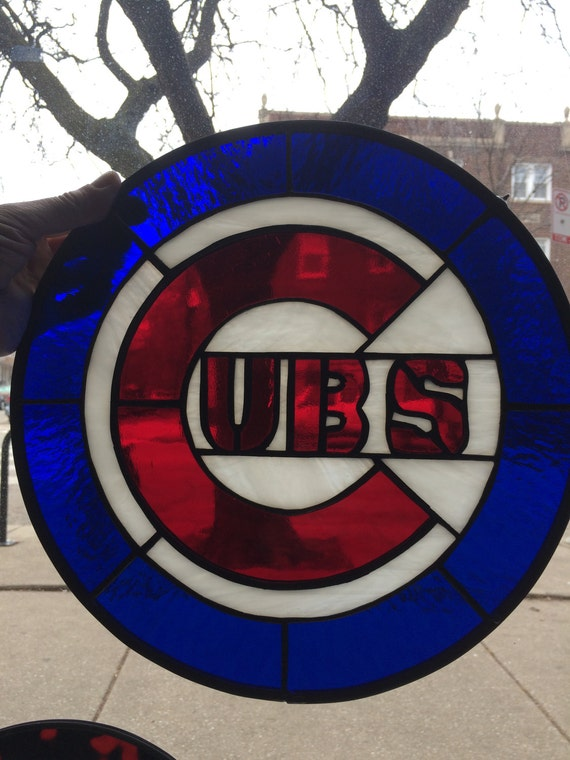 Chicago Cubs Symbol Stained Glass Etsy