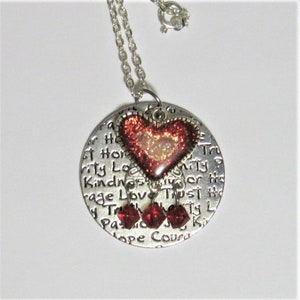 20 Inch Multi Colored Sea Sediment Stylized Heart Necklace with Matching Earrings