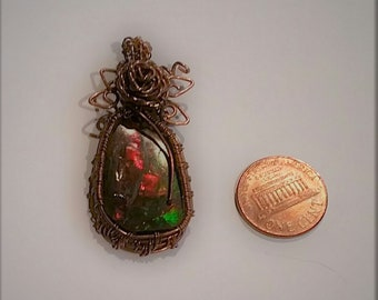 Rare genuine Ammolite Pendant