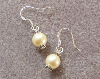 Genuine Cultured Pearl Earrings
