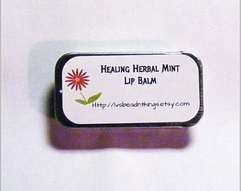 Healing Herbal Mint Lip Balm