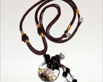 Lampwork Glass Murano Vial Pendant Necklace
