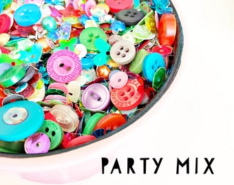 Party Mix: Sequins, Buttons, and beads