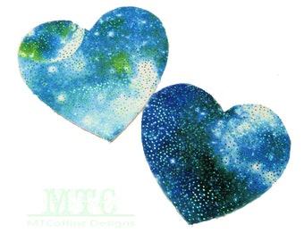 UV GLOW Galaxy Space Cosmic Butterfly Pasties Body Stickers