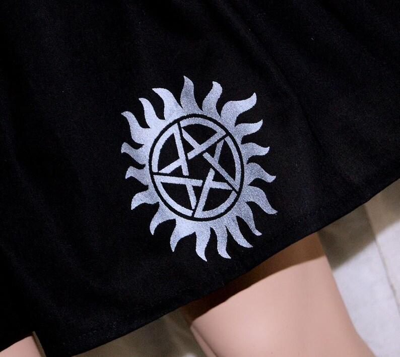 Supernatural Sunburst Pentagram Twirl Skirt ALL SIZES Toddler to Adult MTCoffinz