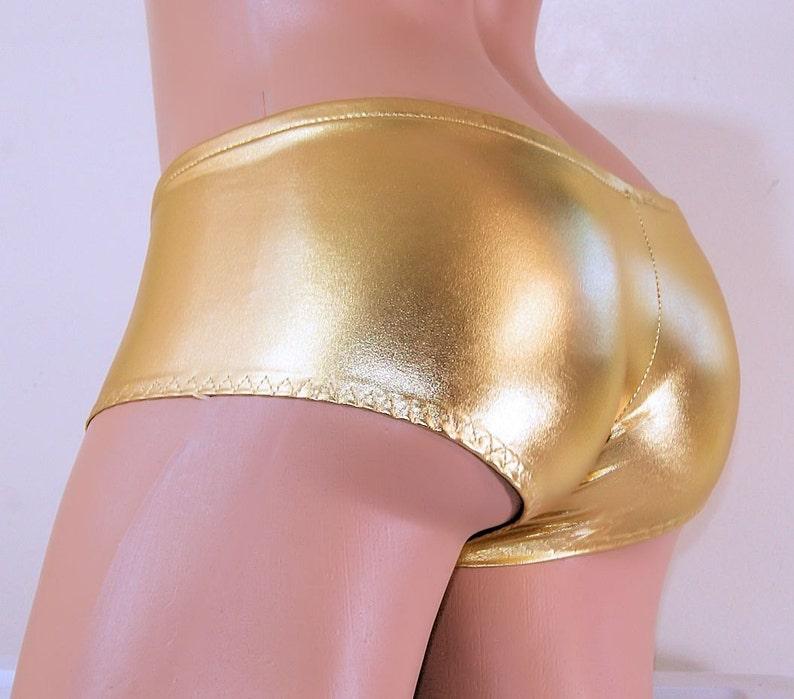Ready to Ship Metallic Shimmer Gold Boy Booty Shorts Adult XS XSmall MTCoffinz