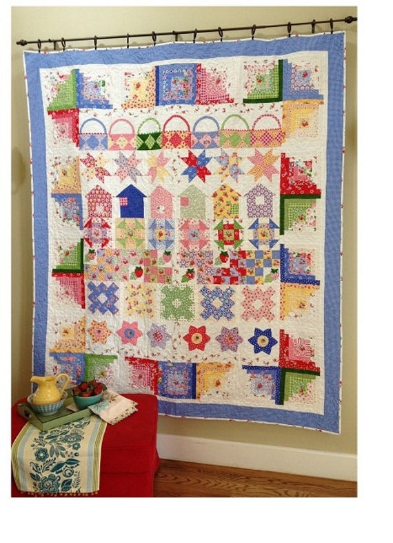 Berry Fun Row By Row Quilt Pdf Etsy