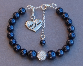 Mother 0f the Groom Wedding Day Gift, Mother of the Bride Bracelet, Mother in Law Present