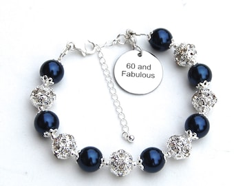 60 and Fabulous, 60th Birthday Gift, 60 Jewelry, Sixty Birthday, The Big 60, Special Birthday, Age Birthday Gift