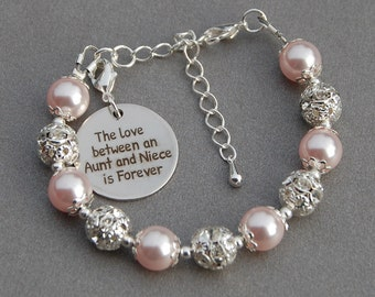 Aunt Niece Gift, The Love between an Aunt and Niece is Forever, Kids Gift, Aunt Niece Jewelry, Present from Aunt, Gift for Niece, Aunt Gift