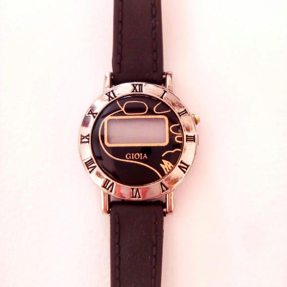 Rare Vintage Gioia Magazine Women's LCD Wristwatch