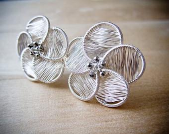 Wire Jewelry Tutorial - Serena Flower Studs Earrings, DCHMT010