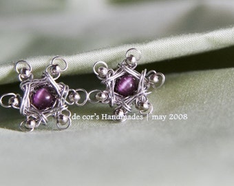Wire Jewelry Tutorial - Flora Studs, Wired Chinese Knot, DCH005, The Love Knot