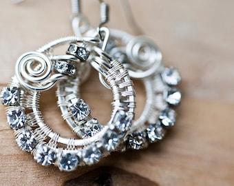 Wire Jewelry Tutorial - Diamond Rounds Earrings, DCHMT015
