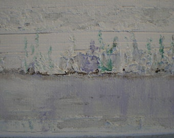 FROZEN - original signed acrylic on canvas of an ice bound estuary