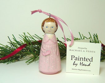 Ornament Barbara Bush Inaugural Gown Hand Painted On Wood Etsy