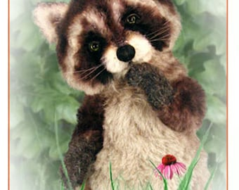 Raccoon Sewing Pattern, Plush Raccoon Pattern, Teddy Bear Pattern, Stuffed Animal Pattern, Artist Raccoon PDF, Raccoon DIY
