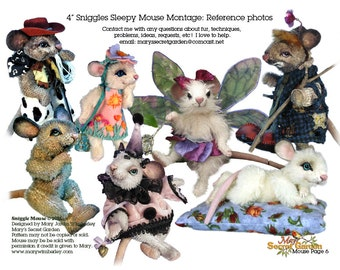 Mouse Sewing Pattern, Stuffed Animal Pattern, Teddy Bear Pattern, DIY Mouse, Stuffed Mouse Pattern, Artist Mouse PDF, Toy Mouse