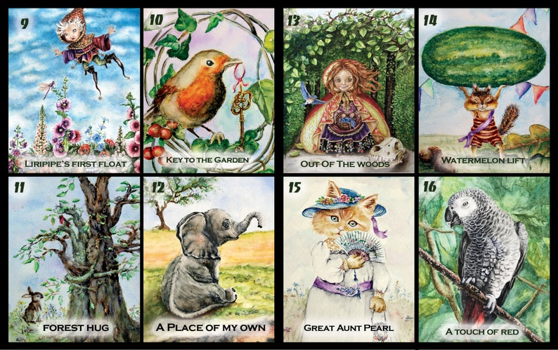 5 Storybook Cards Little Fairy Witch Full Moon Witch Card 5 Blank Note Cards Fairytale Art Cards Witch In Night Woods 5 Note Card Set