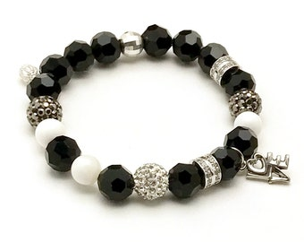 Freddie Mercury Black Silver Bracelet, Crazy Little Thing Called Love, Queen Epic British Rock Group, Who is Your King / Queen