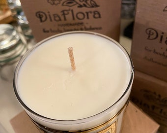 Essential Oil Candles in Vintage Glass
