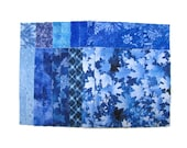 CHARM PACK, FORTY 5 inch squares, assorted, 100 premium cotton, Assorted Blues