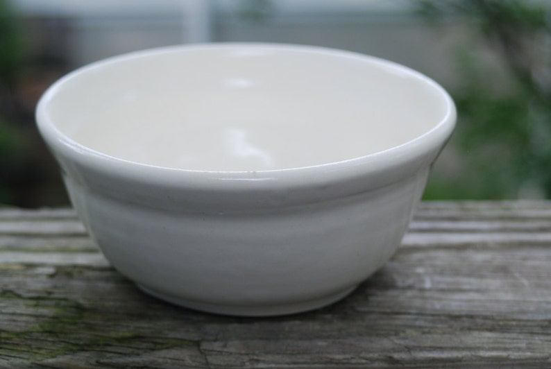 White  ceramic serving dish or bowl. everyday bowl ready to ship handmade pottery