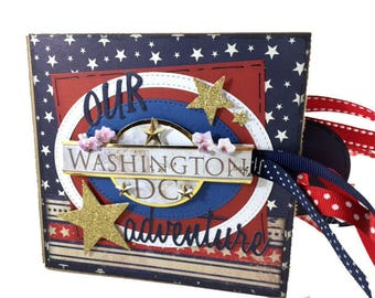 Washington DC Scrapbook - DC Scrapbook - District of Columbia - Travel Scrapbook - Vacation Photo Album -  Washington DC Mini Scrapbook