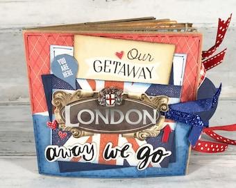 London England Scrapbook - London Scrapbook - Vacation Scrapbook - Travel Scrapbook - London - Vacation Photo Album -  London Mini Scrapbook