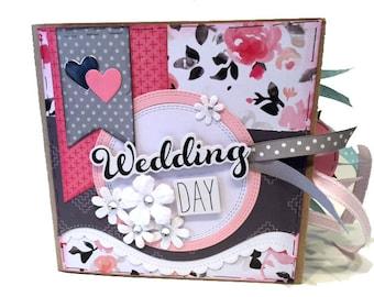 Wedding Scrapbook - Mini Premade Wedding Scrapbook - Wedding Day Photos - Wedding Photos - Wedding Pictures - Wedding Gift - Wedding Shower