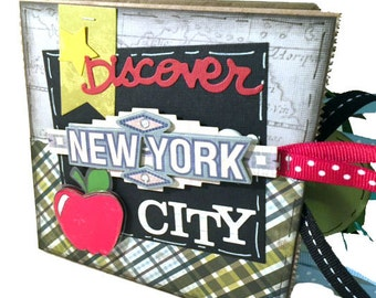 New York City Scrapbook - NYC Scrapbook - Vacation Scrapbook - NYC Travel - Big Apple Travel Paper Bag Album - Mini NYC Travel Scrapbook