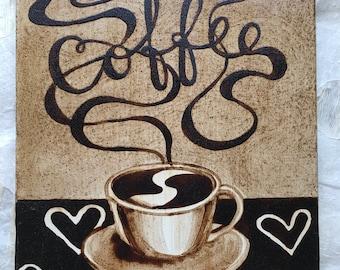 "Armenian Coffee Painting - ""Coffee"""
