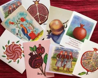 Armenian Pomegranate Design Blank Notecard Assortment