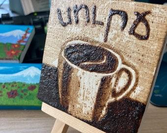 Teeny Tiny Miniature Original Armenian Coffee Painting - Soorj! (coffee)