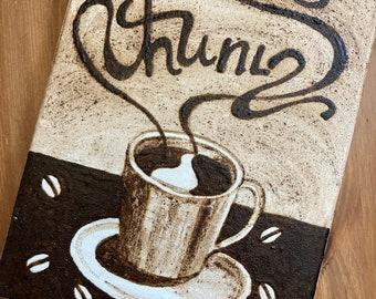 """Original Armenian Coffee Painting - """"Anoush"""""""