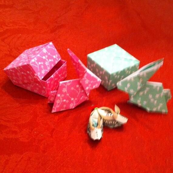 Teeny Tiny Origami Money Bunny Rabbit Slippers With Box And Etsy