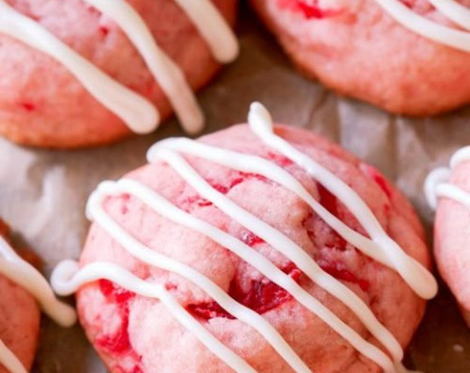 Cherry Shortbread Cookies/ Holiday Cookie/ Party/New Hampshire