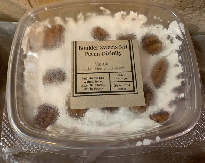 Christmas/Divinity / 1/2 pound container/ Christmas/ gifts/holidays/old fashioned fudge/ Top Seller
