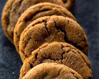 Soft Gingersnap Cookies ( ONE DOZEN)