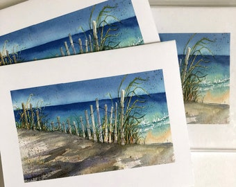 A Walk on the Beach! 6 high-quality boxed notecards with envelopes!