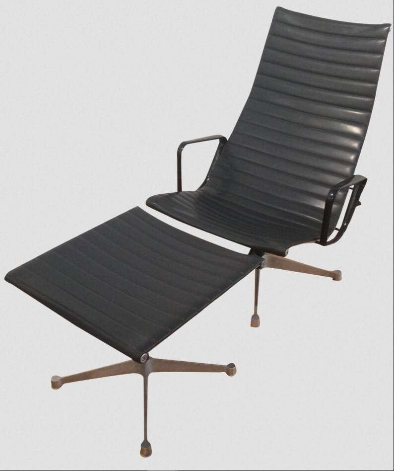 Early Patent Pending Eames Aluminum Group Lounge Etsy