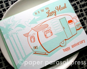 In it for the Long Haul Retro Inspired Anniversary Card